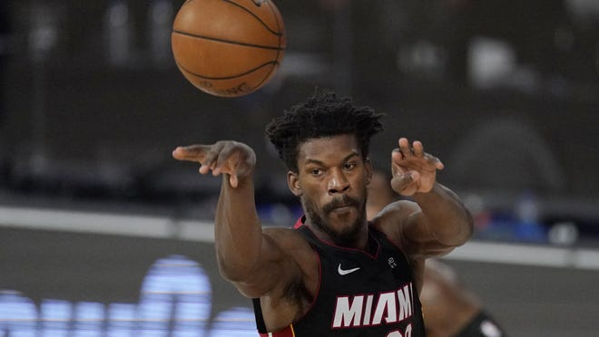 Jimmy Butler will lead the Miami Heat against the Boston Celtics in the Eastern Conference final that begins on Tuesday night.