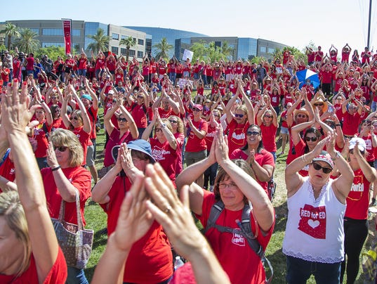 RedForEd Thur May 3 2018