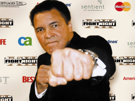 Muhammad Ali at a Celebrity Fight Night in 2009.