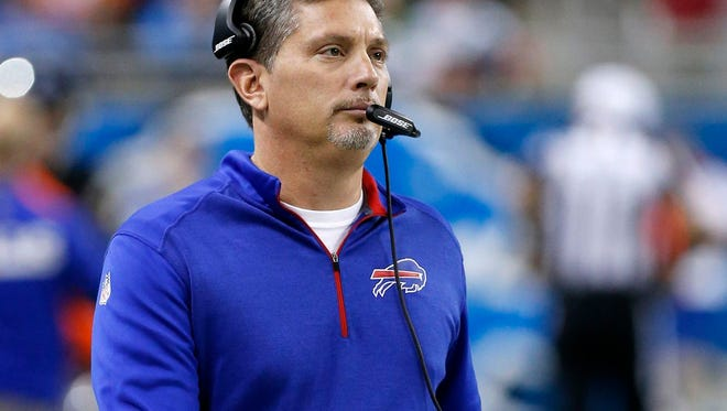 Defensive coordinator Jim Schwartz, shown with Buffalo in 2014, was hired in January to install a new defense with the Eagles this season.