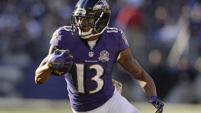 Chris Givens finished out the 2015 with the Baltimore Ravens. The Eagles signed him as a free agent Wednesday.