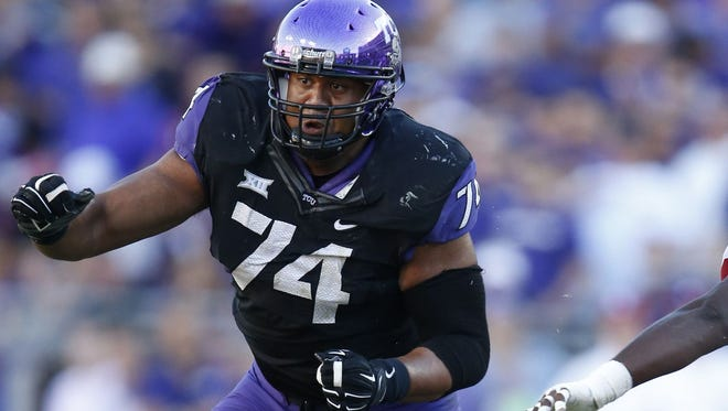 Eagles offensive lineman Halapoulivaati Vaitai was drafted by the Eagles in the fifth round last Saturday.