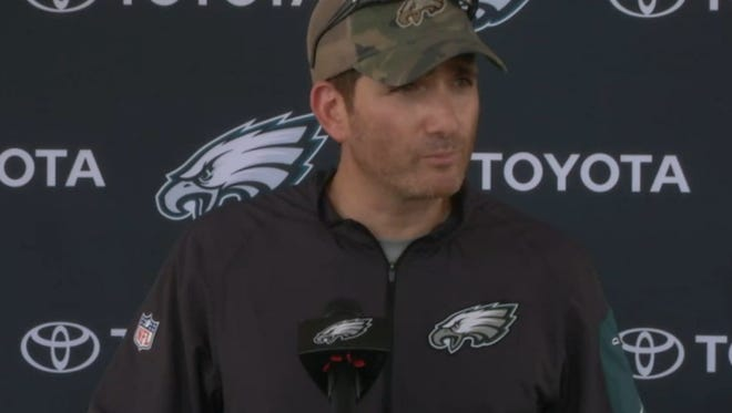 Eagles executive vice president for football operations Howie Roseman, shown last summer, said it takes a while for drafted wide receivers to develop.