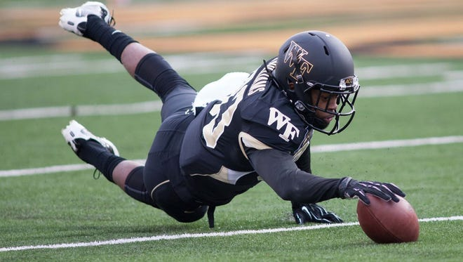 Former Wake Forest wide receiver Jonathan Williams (83) will play his final season at Grambling.
