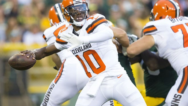 Cleveland Browns quarterback Robert Griffin III was the No. 2 overall pick in the 2012 draft by Washington.