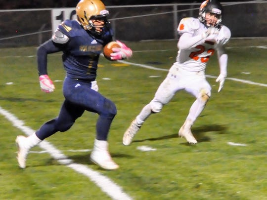 Isaiah Otero made a big impact for the Warriors with 263 rushing yards on the night with 25 carries and four touchdowns.
