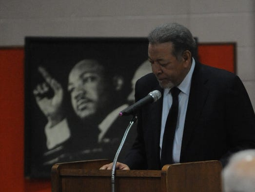 C.E. McLain was the featured speaker Monday during