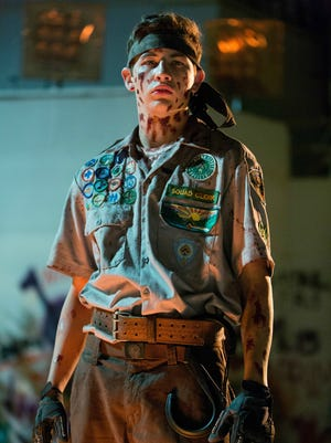 Tye Sheridan suits up in 'Scouts Guide to the Zombie Apocalypse.'