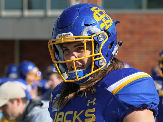 South Dakota State's Christian Rozeboom gets excited