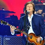 Sir Paul McCartney performs live at The O2 Arena in London.