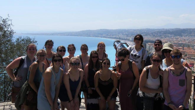 Grand Valley State students in Nice are studying French language and culture.