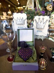 Popular Mardi Gras gift registry items available at Teche Drugs are seen Friday. By Leslie Westbrook January 9, 2009