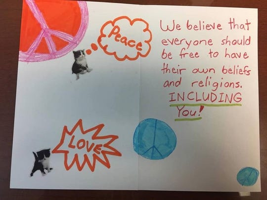 An example of the positive feedback from schoolchildren in the wake of an educational outreach by the Islamic Society of Central Jersey about Islam.