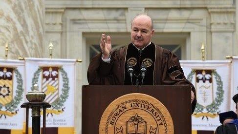 State Sen. Fred H. Madden addresses Rowan University graduates.