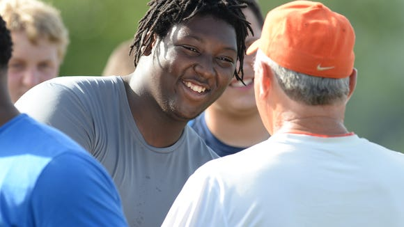 Roberson rising junior Dayquan Watkins attended a Clemson football camp last month.