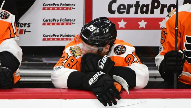Claude Giroux and the Flyers feel like they played better than the score in a 4-1 loss Wednesday.