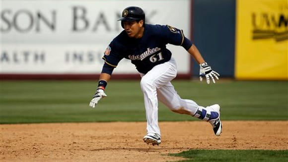Milwaukee Brewers' Ramon Flores during the fourth inning