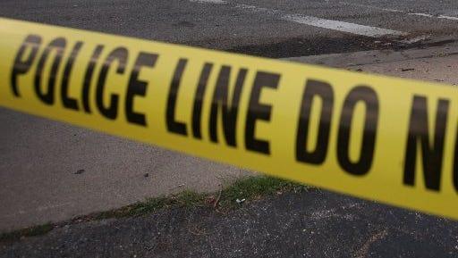 Police crime tape.