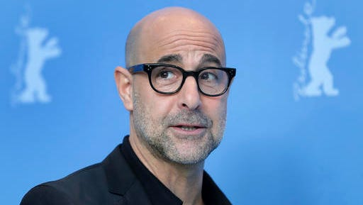 Director Stanley Tucci poses for the photographers during a photo call for the film 'Final Portrait' at the 2017 Berlinale Film Festival in Berlin, Germany, Saturday, Feb. 11, 2017.