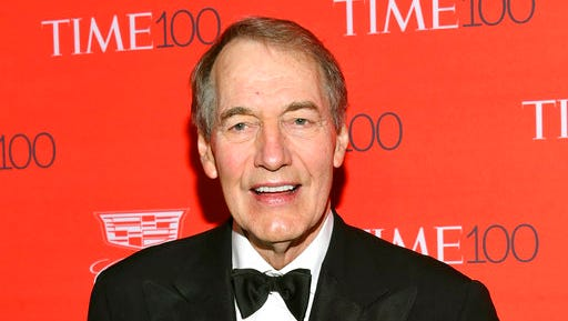 """FILE - In this April 26, 2016 file photo, Charlie Rose attends the TIME 100 Gala, celebrating the 100 most influential people in the world in New York. After getting the doctor's report that he's had an """"exemplary"""" recovery, Rose is ready to return Monday after taking a month off """"CBS This Morning"""" for heart surgery."""