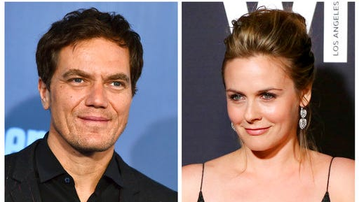 """FILE - This combination of file photos shows actor Michael Shannon, left, at the 22nd annual Critics' Choice Awards on Sunday, Dec. 11, 2016, in Santa Monica, Calif., and actress Alicia Silverstone at the 9th Annual Women in Film Pre-Oscar Cocktail Party on Feb. 26, 2016, in Los Angeles.  Cable's Spike network will be transformed into the Paramount network early next year, introducing new series, including, """"American Woman"""" starring Silverstone and """"Waco,"""" a limited series starring Shannon."""