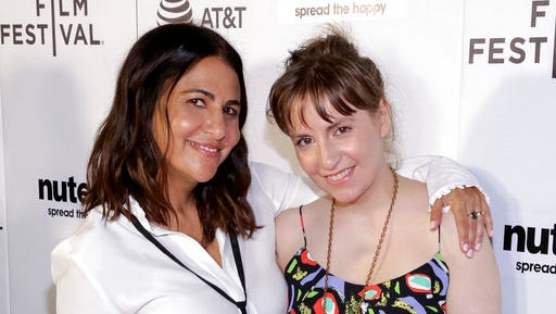 "FILE - In this April 22, 2017, file photo, producers Jenni Konner, left, and Lena Dunham attend a screening of ""Tokyo Project"" during the 2017 Tribeca Film Festival in New York. Now that HBO's ""Girls"" has wrapped its six-year run, the women behind the series are focusing on their other female-centered project: turning their biweekly digital newsletter, Lenny, into a real-life experience. Dunham and Konner announced a six-city tour Tuesday, April 25 that will bring LennyLetter.com to life as a variety show."