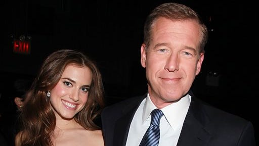 """Actress Allison Williams poses with her father, NBC News' Brian Williams, at the premiere of the HBO original series """"Girls,"""" in New York. Allison Williams  will star in the lead role of """"Peter Pan."""" NBC is airing a new version of the musical live on Dec. 4."""