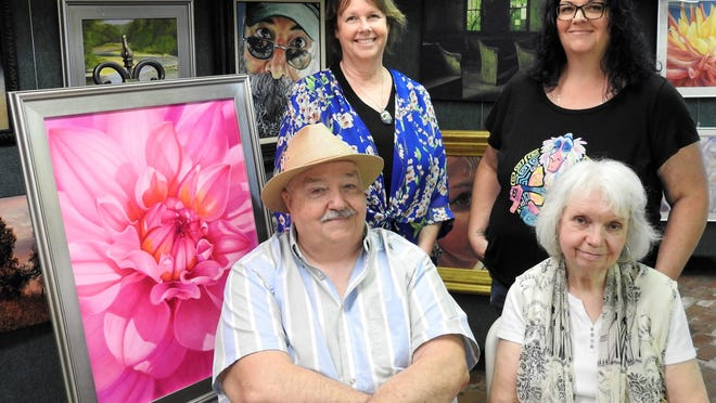 Melissa Maxwell, Carole Hunt, Jack Hunt and BJ Taylor are members of the Coshocton County Artists Collective and have opened the new Foothills Studio and Gallery in Roscoe Village, showcasing their various works. A grand opening is today.