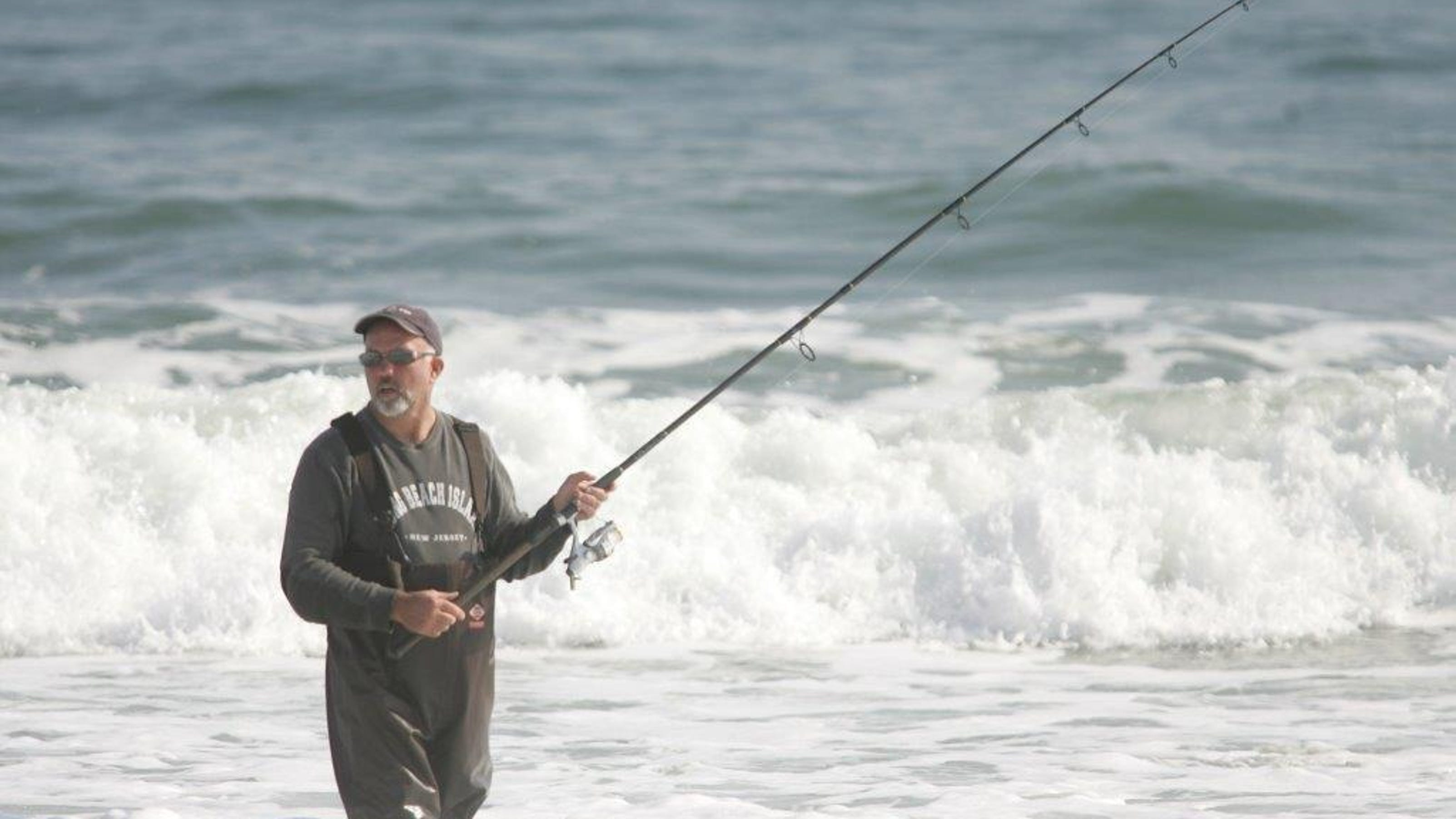 Late october striped bass wins lbi surf classic for Lbi surf fishing report