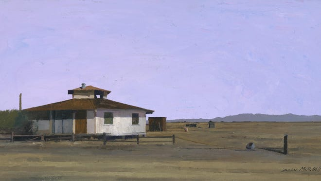 Internationally known, Quincy-born painter Dean Mitchell recently returned from Arizona with a new batch of paintings.
