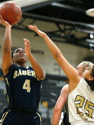 Susquehanna Valley's Trinasia Kennedy shoots during