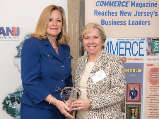 Columbia Bank was named a Champion of Good Works. Accepting