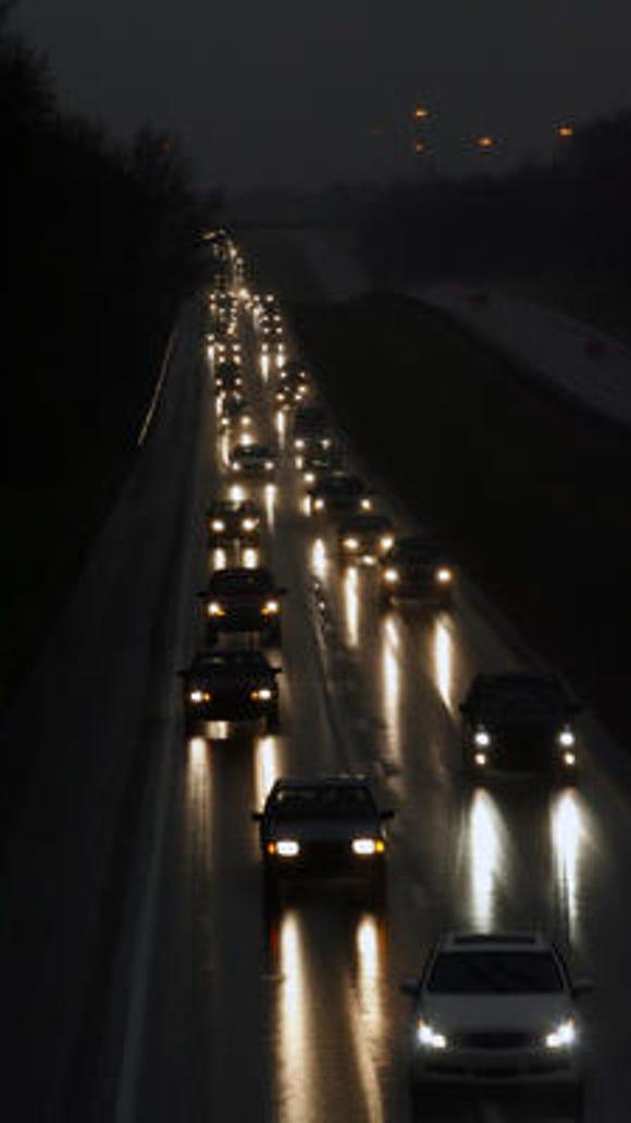 Traffic along Interstate 71