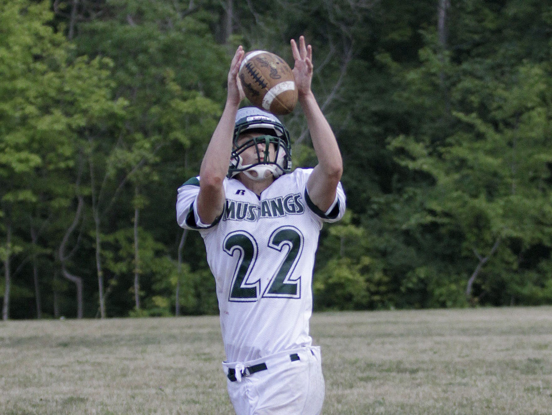 Receiver Joe Donnelly runs some routes during practice.