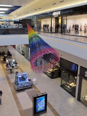 Artwork is a big part of the design at Fashion Outlets Chicago, home to 130 shops that include many high-end brands.