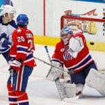 Amerks goalie Andrey Makarov, shown here against the Marlies last week, is now 2-3 in five AHL starts.