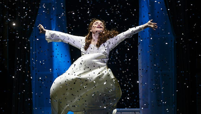 Christine Dwyer as Sylvia Llewelyn Davies in the National Production of Finding Neverland