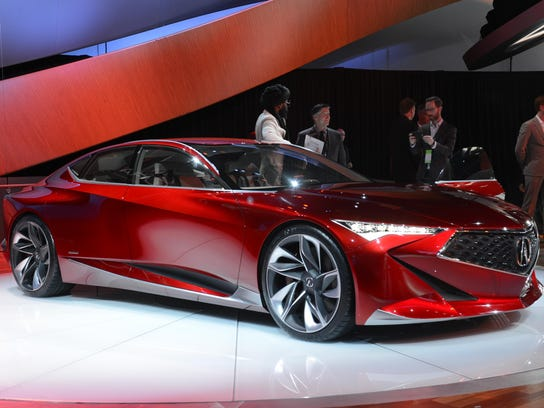 The Acura Precision concept vehicle is seen at the