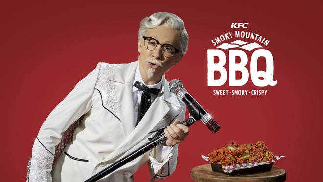 KFC's newest celebrity Colonel Sanders features country star Reba McEntire.