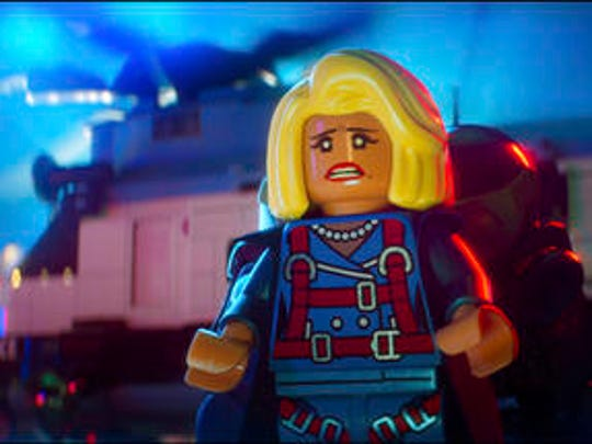 """This image released by Warner Bros. Pictures shows Mayor McCaskill, voiced by Mariah Carey, in a scene from """"The LEGO Batman Movie."""""""