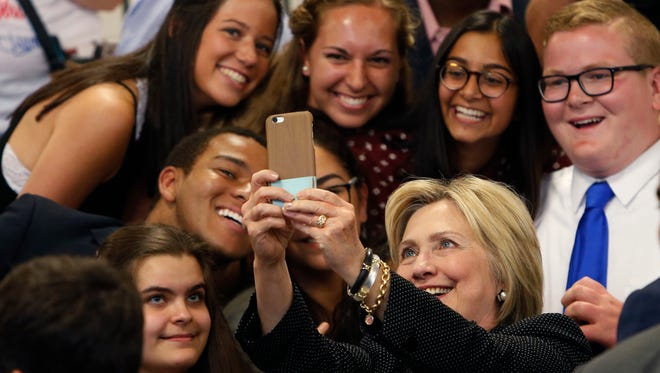 Hillary Clinton at Fort Hayes Vocational School in Columbus, Ohio, in June.