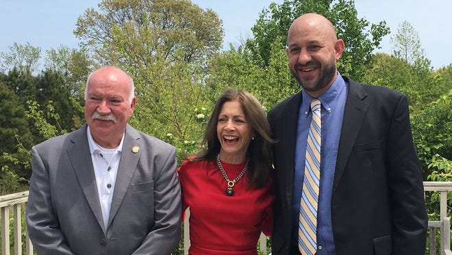 Assemblyman Bruce Land (D-1st Dist) with First Lady Tammy Murphy and Eric Stiles, President & CEO of New Jersey Audubon