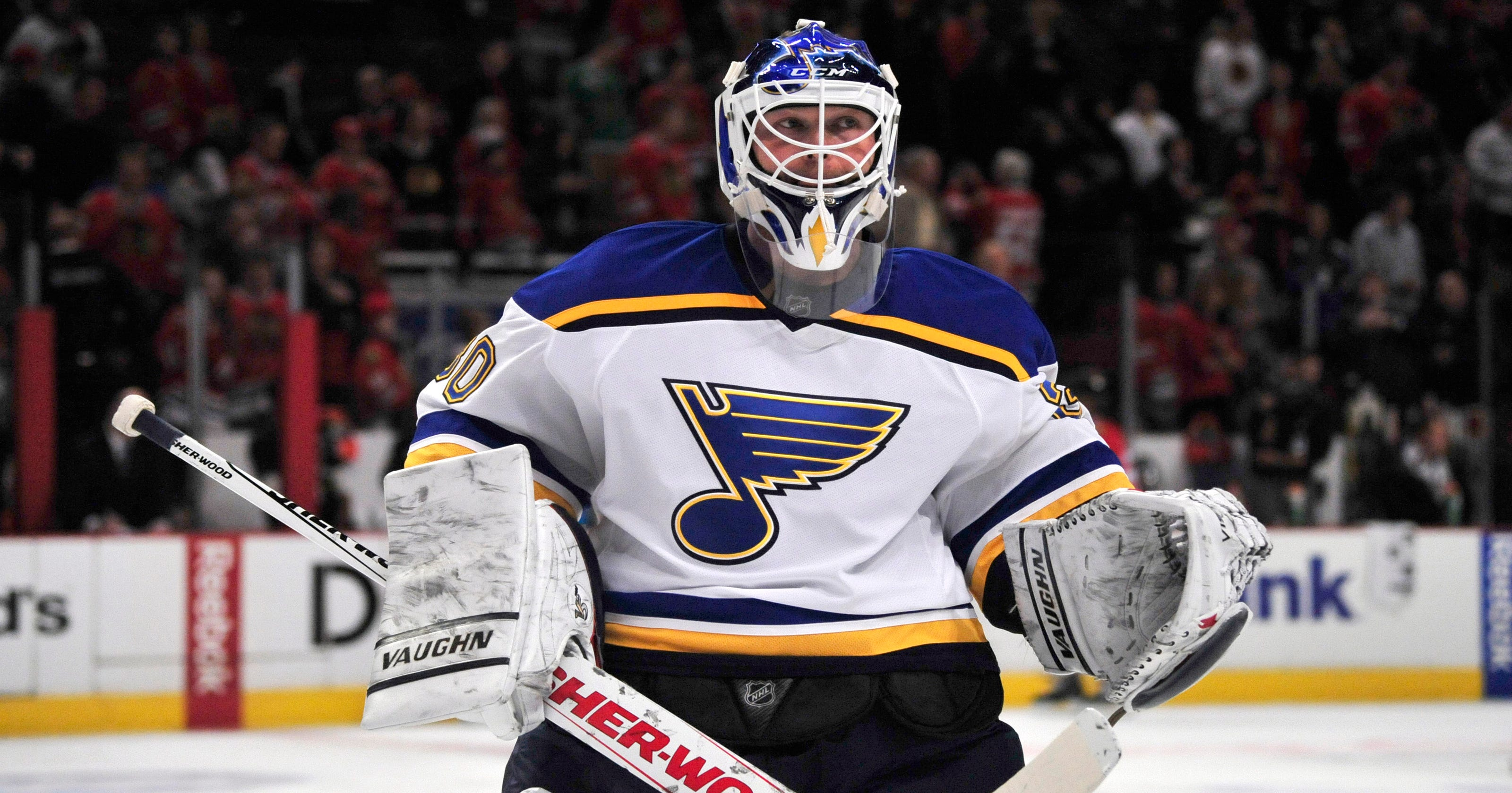 Martin Brodeur Getting His First Start With Blues
