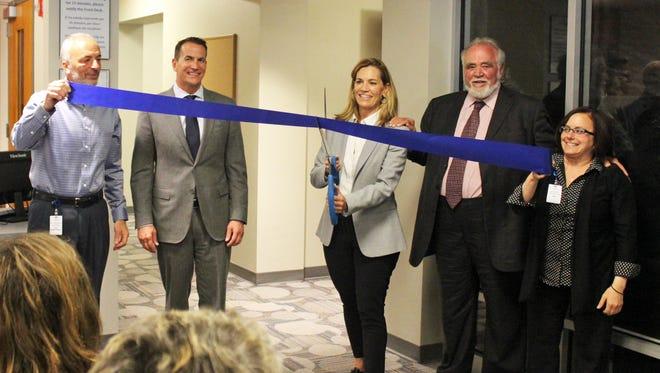 Lakeshore's Medical Director Dr. Robert Wenberg, David Kohler, Laura Kohler, Herbert V. Kohler, Jr. and Lakeshore's CEO Kristin Stearns.