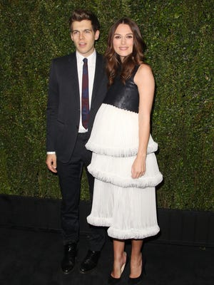 James Righton and actress Keira Knightley attend the Chanel and Charles Finch Pre-Oscar Dinner in Los Angeles.