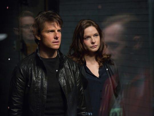 Ethan Hunt (Tom Cruise) and Ilsa Faust (Rebecca Ferguson)
