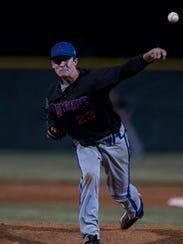 Silver Creek's Sammy Barnett (23) pitches against Memorial