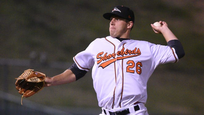 Shorebirds starting pitcher John Means.