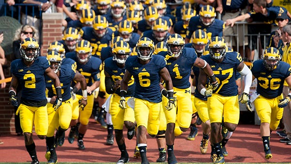 Defensive back Ray Taylor (6) is one of the Michigan seniors playing his final home game Saturday.