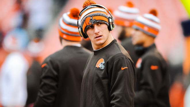 Johnny Manziel started just two games as a Browns rookie in 2014.